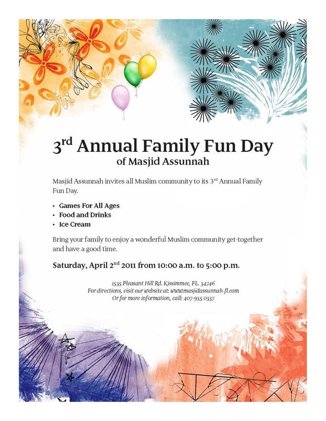 Third Annual Family Day at Masjid Assunnah