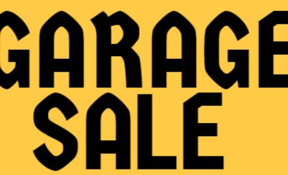 Garage Sale —2018