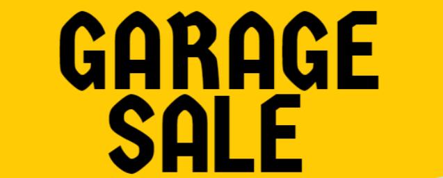 Garage Sale —2020